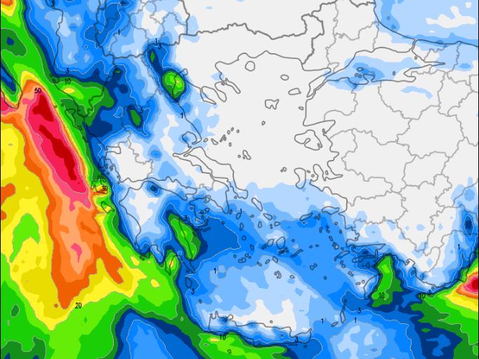 1 - Καιρός 3-6 Δεκεμβρίου: Βροχές και χιόνια στα βουνά (+χάρτης βροχής)