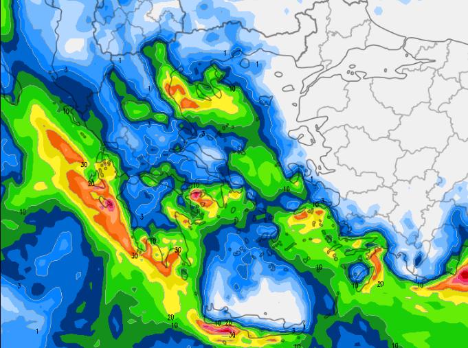2 - Καιρός 3-6 Δεκεμβρίου: Βροχές και χιόνια στα βουνά (+χάρτης βροχής)