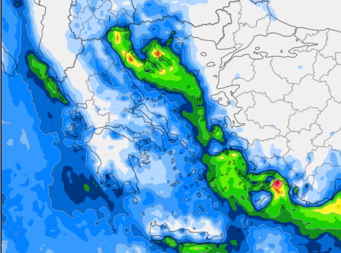3 - Καιρός 3-6 Δεκεμβρίου: Βροχές και χιόνια στα βουνά (+χάρτης βροχής)