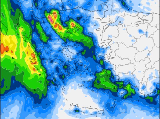 4 - Καιρός 3-6 Δεκεμβρίου: Βροχές και χιόνια στα βουνά (+χάρτης βροχής)