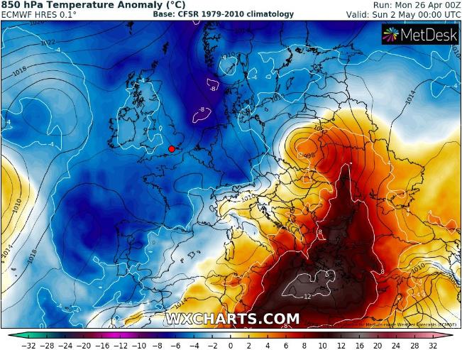 eggr - Η πορεία της θερμοκρασίας και τις νεφώσης όλη τη Μεγάλη Εβδομάδα