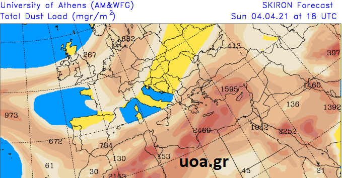 jtyj - Καιρός Θεσσαλία 4-6/4/2021 (χάρτης βροχής)