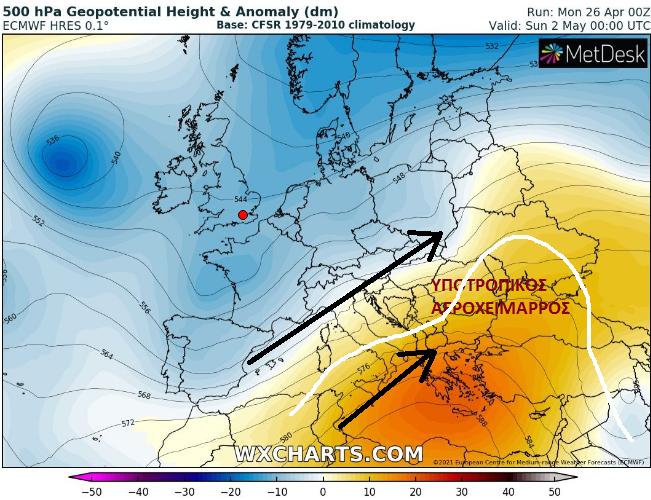 rgewr - Η πορεία της θερμοκρασίας και τις νεφώσης όλη τη Μεγάλη Εβδομάδα